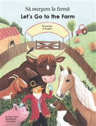 Let's Go to the Farm Bilingual Board Book for Preschool in English with Spanish, Arabic and more.