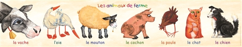 Farm Animals Poster-FRENCH EDITION, Multicultural Poster