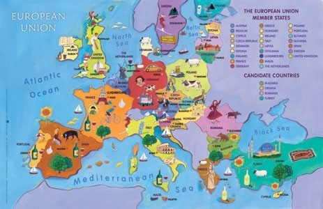 Resources Map Of Europe.Map Of The Enlarged E U World Maps