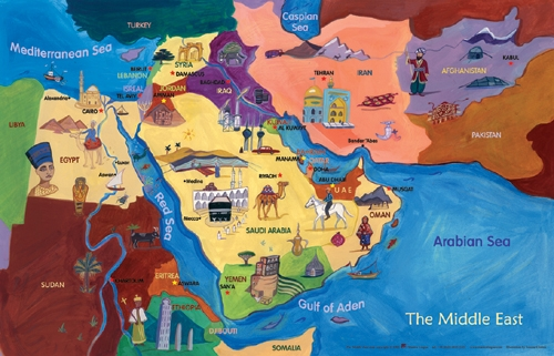 Underground animals poster multilingual edition multicultural map of the middle east world maps gumiabroncs Image collections