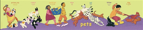 Pets Poster-Multilingual Edition, Multicultural Poster