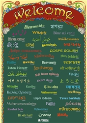 Welcome in Different Languages - Multicultural Welcome Poster