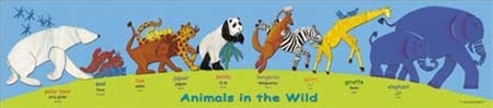 Wild Animals Poster-Multilingual Edition, Multicultural Poster