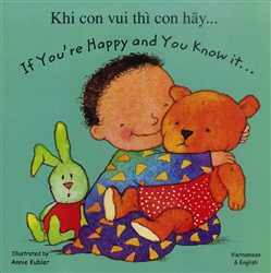 Fun Bilingual Board Book. Great Multicultural book for preschoolers, toddlers and babies. If You're Happy and You Know It.