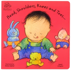 Head, Shoulders, Knees and Toes  - Bilingual board book in Arabic, Chinese Traditional, French, Korean, Spanish, Urdu, and many other languages. Multicultural books for preschoolers