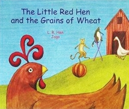 Little Red Hen and the Grains of Wheat- Bilingual Book