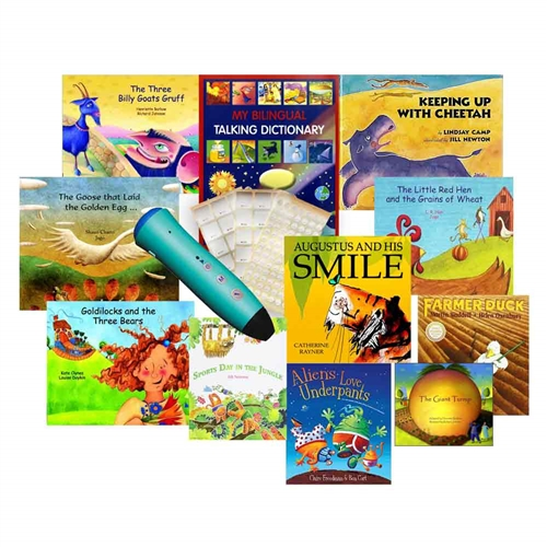 French-English Audio Books with Voice Recorder Pen: PENpal Enhanced Set