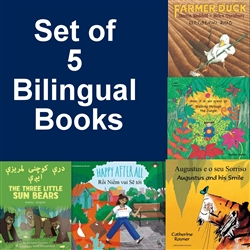 French Set of 5 Children's Books (Bilingual)