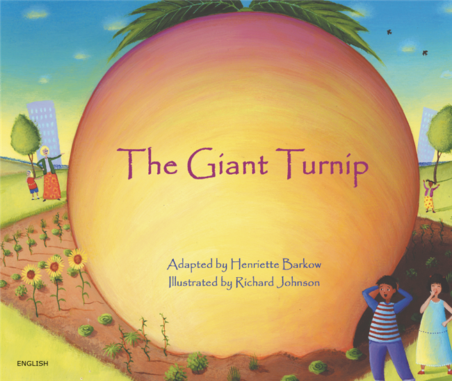 The Giant Turnip - Bilingual Children's Book available in Albanian, Bulgarian, Farsi, German, Italian, Polish, Spanish, Tamil, and many more languages. Inspiring story for diverse classrooms.
