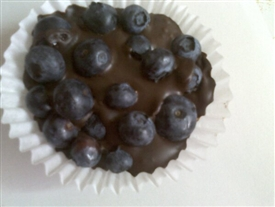 Chocolate-Dipped Blueberries!
