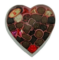 Medium Clear Lid Heart Box