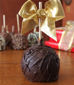 Dark Chocolate Dipped Caramel Apple