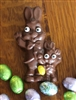 Solid Chocolate Father&Son Bunny