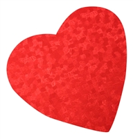 Large Red Foil Heart