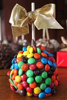 M&M Covered Caramel-Chocolate Apple