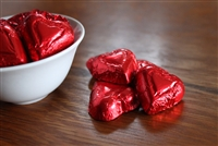 Milk Chocolate Red Foil Wrapped Hearts