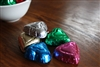 Milk Chocolate RAINBOW Foil Wrapped Hearts