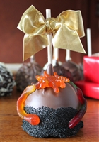 Spooky Spider & Worm Caramel-Chocolate Apple