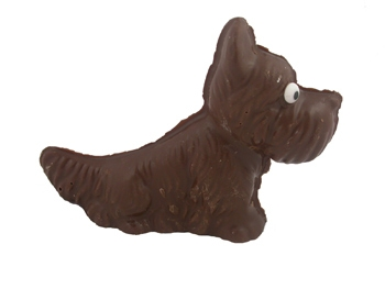 Solid Chocolate Scotty Dog