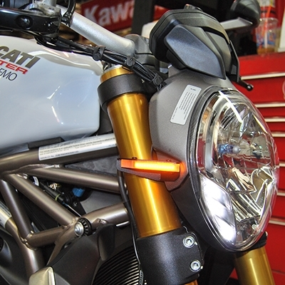 replacement front led turn signals for ducati monster. Black Bedroom Furniture Sets. Home Design Ideas