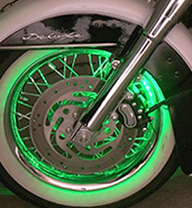 Motorcycle Led Wheel And Rim Accent Lighting Pucks From