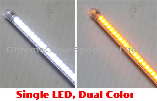 White amber flexible array daytime running light led strip with led alternative views aloadofball Image collections