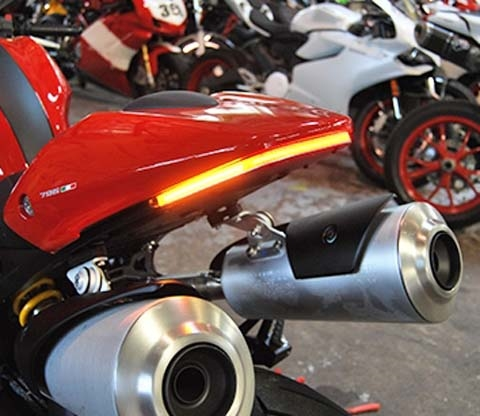New Rage Cycles Ducati Monster 696 Led Fender Eliminator Kit With