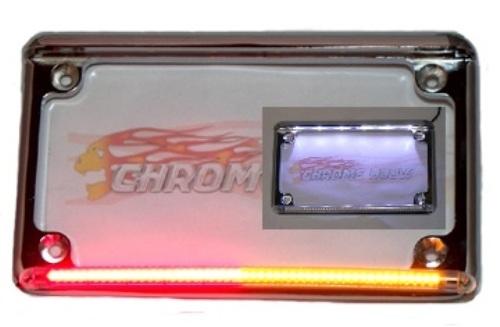 real flex motorcycle led license plate frame with runbraketurn - Motorcycle Plate Frame