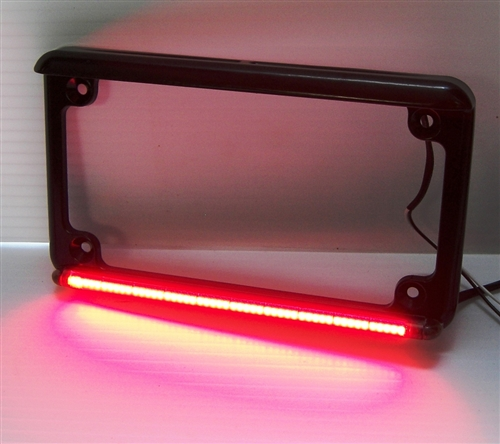 Real Flex Motorcycle Led License Plate Frame With Running Light