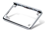 Horizontal LED Lighted Motorcycle License Plate Frame