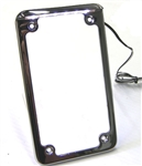 Vertical LED Lighted Motorcycle License Plate Frame