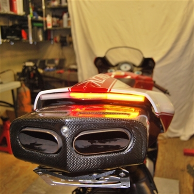New Rage Cycles Ducati Monster LED Fender Eliminator Kit With - Ducati 999 tail light wiring