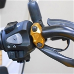 Honda Grom with the Billet Handle Bar Controls Perch Clamp from SportBike Lites
