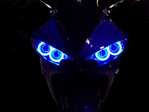 SPORTBIKE LITES Dual CCFL HEADLIGHT HALO RING ANGEL EYES KIT for Yamaha YZF  R6 and R6S
