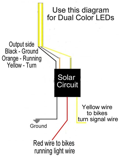 Solar Circuits motorcycle Turn signal wiring circuits from