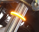 Motorcycle Fork Mounted Wrap-Around LED Turn Signals