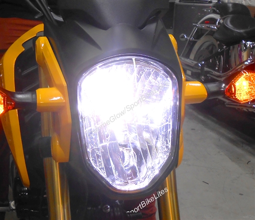 Honda Grom MSX 125 LED Headlight Bulb Conversion Kit on