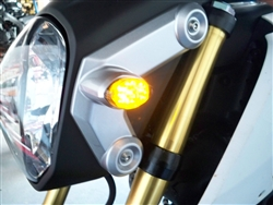 MSX 125 Honda Grom Front LED Turn Signals in Smoked or Clear from SportBikeLites