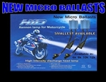 Harley Davidson CVO Electra Glide & Street Motorcycle HID Headlight Conversion Kit with micro HID Ballast