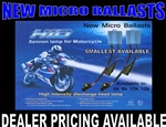 Harley Davidson Motorcycle H4 HID Headlight Conversion Kit with mirco HID Ballast
