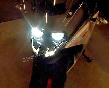 KTM RC390 Dual High Beam LED Headlight bulb Upgrade Kit from