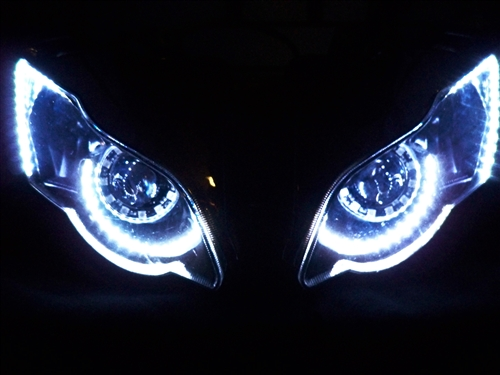 Motorcycle drl halos eye brow strip kit from sportbike lites alternative views mozeypictures Gallery