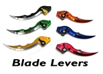 Adjustable Blade style Clutch and Brake side Levers for Kawasaki Z125 Pro motorcycles