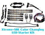 Xtreme-SBL Color Changing Motorcycle LED Accent Kit with remote control