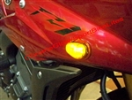Yamaha FZ1, FZ6, FZ8Flush Mount Front LED Turn Signals