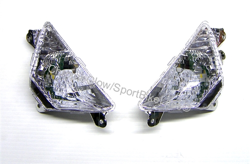 Front Turn Singal Light For KAWASAKI Ninja 250 300 ZX6R 13-18 650R ER6F 12-18 US