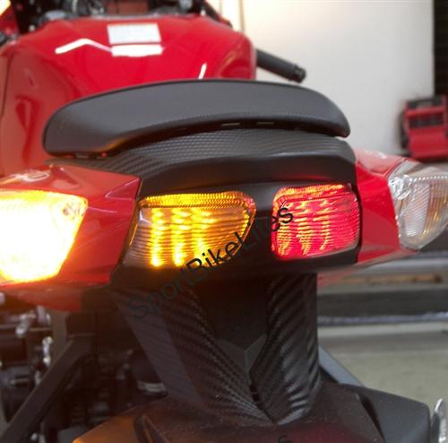 Clear Led Brake Tail Light Integrated Turn Signal For Suzuki 06-07 GSXR 600//750