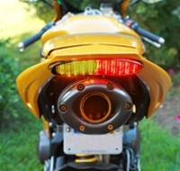 TRIUMPH DAYTONA 675 SEQUENTIAL LED TAILLIGHT IN SMOKED OR CLEAR LENS