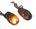 Motorcycle Flush Mount turn signals with carbon fiber look