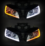 XK Glow Headlight LED Strips w Sequential Turn Signals And DRLs